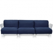 Kartell - Pop Outdoor 3er Sofa