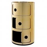Kartell - Componibili Ø 32 cm 3 Fächer   Gold