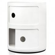 Kartell - Componibili Ø 32 cm 2 Fächer | Weiß