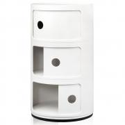 Kartell - Componibili Ø 32 cm 3 Cases | White