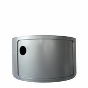 Kartell - Componibili Ø 42 cm 1 Fach (H 23.5 cm) | Silber