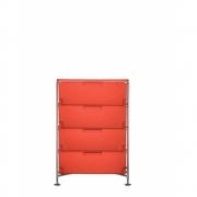 Kartell - Mobil Container 4 tiroirs | Orange