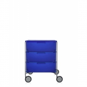 Kartell - Mobil Container with wheels 3 drawer | Cobalt