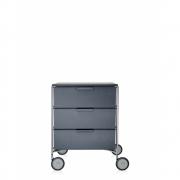 Kartell - Mobil Rollcontainer 3 Schubladen   Schiefergrau