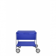 Kartell - Mobil Container with wheels 1 drawer; 1 case | Cobalt