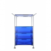 Kartell - Mobil Container with handle 3 drawer; 1 case | Blue