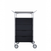 Kartell - Mobil Container with wheels and handle 4 drawer; 1 case | Fume