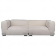 Kartell - Plastics Duo XL 2-Sitzer Sofa Ecru