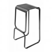 La Palma - Continuum Tabouret de bar 80 cm | Cuir gris | Noir
