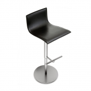 La Palma - Thin Barstool Leather Black