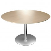 La Palma - Brio Table Round 60 cm 107 cm | HPL Fenix Black | Black