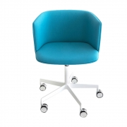 La Palma - Cut Cadeira Giratória Altura Ajustável Cinzento   Branco   Branco