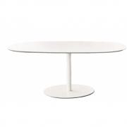 La Palma - Rondo Table Laminate Fenix White | White