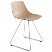 Chaise piètement luge blanc Miunn S160 - La Palma