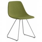 Chaise piètement luge chromé mat Miunn S160 - La Palma