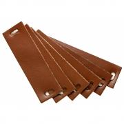 Leander - Ledergriffe für Classic™, Linea™ und Luna™ Kommode (6 Stk.) Braun