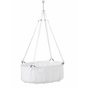 Leander - Cradle incl Mattress and Ceiling Hook White