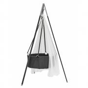 Leander - Classic™ Wiege inkl. Matratze, Haken, Stativ und Himmel Grau   Grau   Weiß