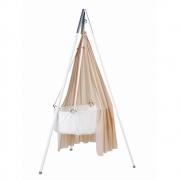 Leander - Berceau avec matelas, crochet, trépied et canopée