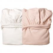 Leander - Draps pour berceau (2 pcs.) Blanc / Soft Pink