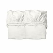 Leander - Laken für Babybett, 2 Stück Schnee