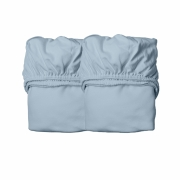 Leander - Sheets for baby bed, 2 pieces Dusty blue