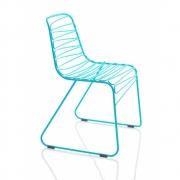 Magis - Flux Cadeira Azul-Claro