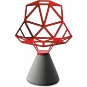 Chair One Chaise avec socle en ciment - Magis Rouge (Base: Béton Nature)