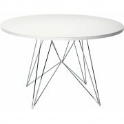 Magis - XZ3 Tisch rund Weiß (Gestell: Verchromt)