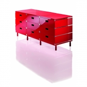 Magis - Plus Unit Large with Wheels 3 Modules | Red