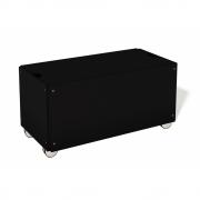 Bettkasten für Stapelliege Komforthöhe mit Rollen 93 cm | Graphitschwarz RAL 9011