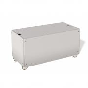 Bettkasten für Stapelliege Komforthöhe mit Rollen 93 cm | Lichtgrau RAL 7035