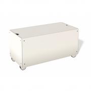Bettkasten für Stapelliege Komforthöhe mit Rollen 93 cm | Oxidrot RAL 3009