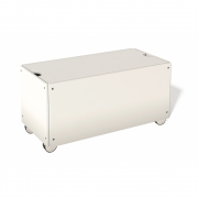 Bettkasten für Stapelliege Komforthöhe mit Rollen 93 cm | Lichtblau RAL 5012