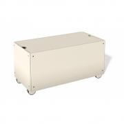 Bettkasten für Stapelliege Komforthöhe mit Rollen 103 cm | Cremeweiß RAL 9001