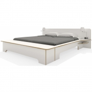 Plane Double Bed with Bedding Box