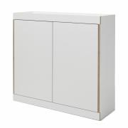 Flai Kommode breit Weiß   mit 2 Türen