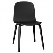 Muuto - Visu Stuhl mit Holzgestell Schwarz