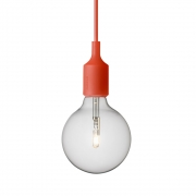 Muuto - E27 Pendant Lamp Halogen Red