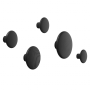 Muuto - The Dots Coat Hooks (Set of 5) Black
