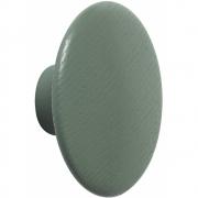 Muuto - The Dots Holz Wandhaken Extra Klein | Graugrün
