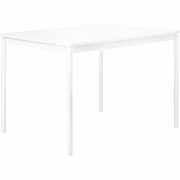 Muuto - Base Table with ABS Edges 140 x 80 cm / White