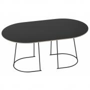 Muuto - Airy Coffee Table Mittel | Schwarz