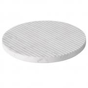Muuto - Groove Marmor-Untersetzer Ø 21.6 cm | Weiß