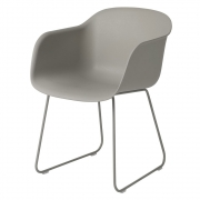 Muuto - Fiber Chair Sled Chair Grey
