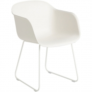 Muuto - Fiber Chair Kufenstuhl Weiß