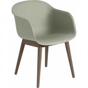 Muuto - Fiber Chair mit Holzgestell
