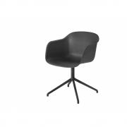 Muuto - Fiber Chair Drehstuhl Schwarz