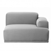 Muuto - Connect Sofa Eckelement B (Arml. rechts) | Grau (Remix123)