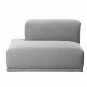 Muuto - Connect Sofa Open-ended module F (left) | Dark Grey (Vancouver 13)